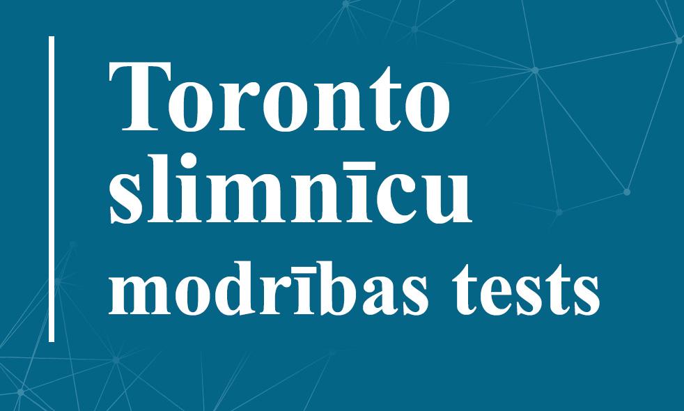 Toronto slimnīcu modrības tests (THAT)