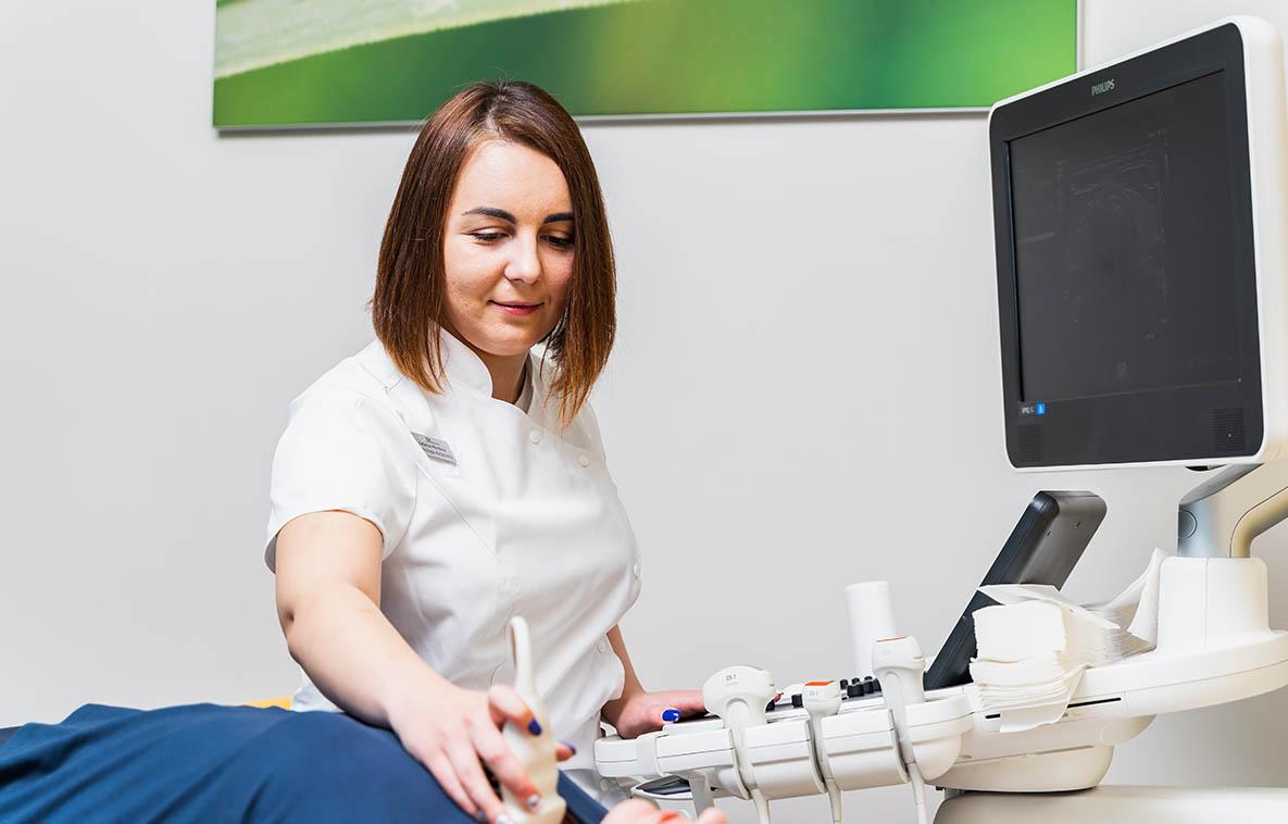 Ultrasound USG of the thyroid gland